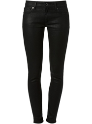 Michael Michael Kors Coated Skinny Jeans Black