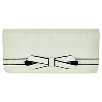 Jacques Vert Piped Bow Clutch Bag Mint