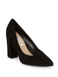 Saks Fifth Avenue Lori Suede Pumps Black