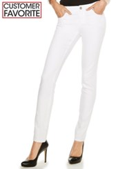 Inc International Concepts Curvy Fit Tikglo Wash Skinny Jeans Only At Macy's White