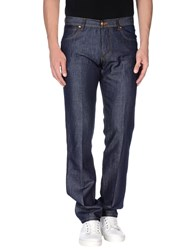 Richard James Brown Denim Denim Trousers Men Blue