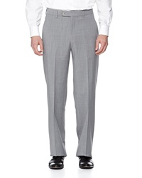 Neiman Marcus Flat Front Wool Pants Pearl Gray