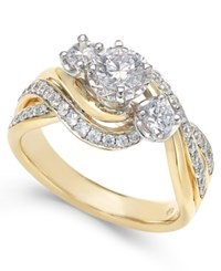 Macy's Diamond Engagement Ring 1 Ct. T.W. In 14K White Or Yellow Gold
