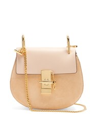 Chloe Drew Mini Leather And Suede Cross Body Bag Light Pink