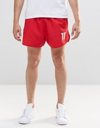 11 Degrees Retro Shorts With Logo Red
