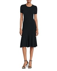Ralph Lauren Ribbed Sweater Dress Polo Black