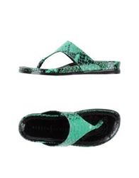 Rebeca Sanver Thong Sandals Green