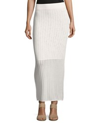 A.L.C. Suvi Ribbed Knit Maxi Skirt Off White