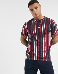 Another Influence Vertical Stripe T Shirt In Boxy Fit Navy