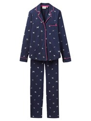 Joules Astrid Scribbly Dog Pyjama Set French Navy