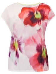 Ted Baker Expressive Pansy Khalees Woven T Shirt Baby Pink