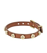 Pave Leather Buckle Bracelet Gold