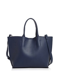 Street Level Solid Tote Navy Silver