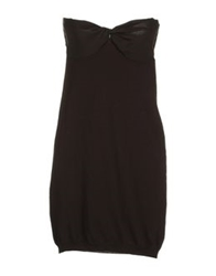Gotha Short Dresses Dark Brown