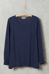 Bordeaux Aiva Draped Top Navy