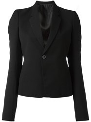 Rick Owens Cropped Structured Blazer Black