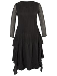 Chesca Crush Pleat Layer Dress Black