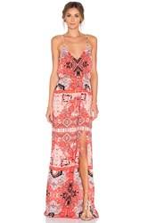 Eight Sixty Moroccan Maxi Dress Coral