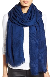 Echo Women's Pleated Blanket Scarf Ultra Marine