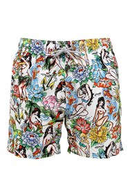 Mc2 Saint Barth Gustavia Hula Micro Fiber Swim Shorts