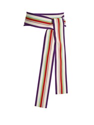 Diane Von Furstenberg Grosgrain And Silk Sash White Multi