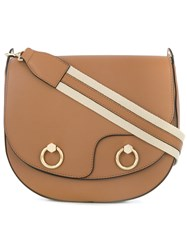 Tila March Linda Hobo Shoulder Bag Leather Brown