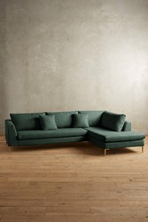 Anthropologie Linen Edlyn Right Sectional Dark Turquoise