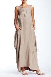 Biya Bell Curve Dress Beige