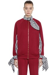 House Of Holland Tricot And Gingham Bomber Jacket