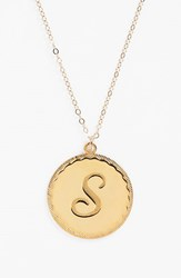 Women's Moon And Lola 'Dalton' Long Initial Pendant Necklace Gold S