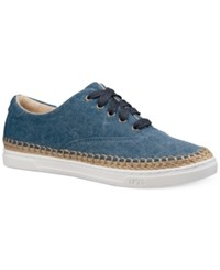 Ugg Eyan Canvas Lace Up Sneakers Navy