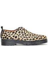 Joseph Woman Leopard Print Calf Hair Brogues Animal Print