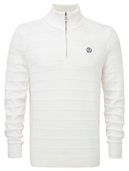 Henri Lloyd Norbeck Regular Half Zip Knit White
