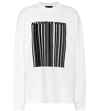 Alexander Wang Oversized Cotton Sweatshirt White