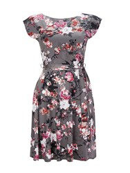 Wallis Grey Blossom Floral Fit And
