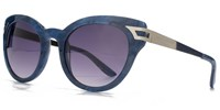 Kurt Geiger 26Kgp004 Blue Cateye Sunglasses