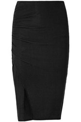 Splendid Ribbed Micro Modal Skirt Black