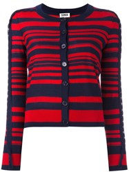 Sonia Rykiel By Striped Cardigan Red