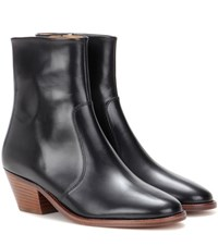 Isabel Marant Etoile Doynie Leather Ankle Boots Black