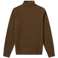 Margaret Howell Relaxed Roll Neck Sweat Brown