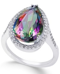 Macy's Mystic Topaz 4 Ct. T.W. And White Topaz 1 Ct. T.W. Ring In Sterling Silver Multi