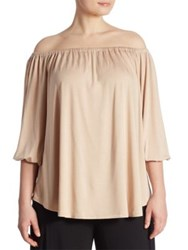 Rachel Pally Plus Size Spring White Label Ayumi Off The Shoulder Blouse Bamboo