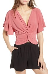 Leith Knot Front Top Red Baroque