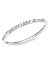 Crislu Pave Bangle Silver White