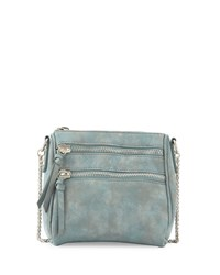 Violet Ray Lizzy Faux Suede Zip Crossbody Bag Evergreen Green