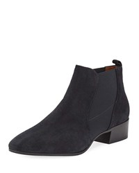 Aquatalia By Marvin K Falco Suede Gored Booties Black