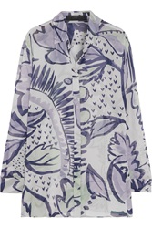 Burberry Printed Silk Georgette Blouse
