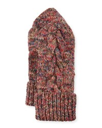 Il Borgo Braided Trim Cashmere Mittens Multicolor Multi Colors