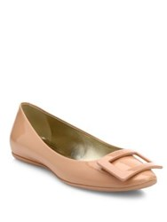 Roger Vivier Gommette Patent Leather Flats Nude