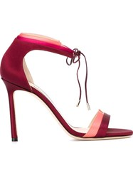 Jimmy Choo Tie Fastening Sandals Red